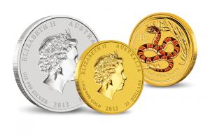 Lunar munten zilver en goud