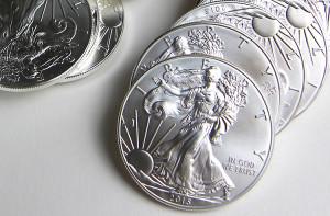Silver eagle munten
