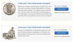 Aanbieding:Nederlandszilvermuntgeldtekooptegenverlaagdeprijs