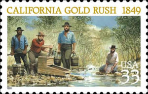California Gold Rush US postal stamp issued