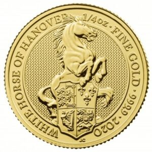 1/4 troy ounce gouden queens beast White Horse munt