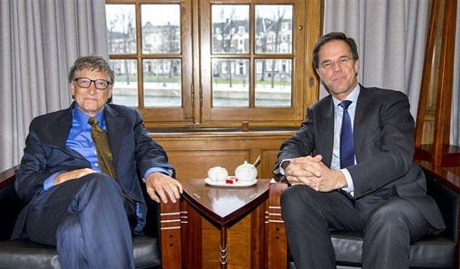 Bill gates en Mark Rutte